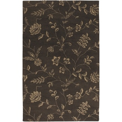 Artist's Loom Hand-tufted Transitional Floral Wool Rug (5'x7'6) - 5' x 8' - Thumbnail 0