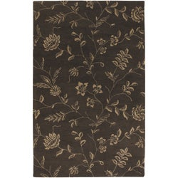 Artist's Loom Hand-tufted Transitional Floral Wool Rug - 5' x 8' - Thumbnail 0