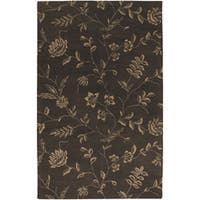 Artist's Loom Hand-tufted Transitional Floral Wool Rug (5'x7'6) - 5' x 8'