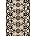 Artist's Loom Hand-tufted Contemporary Geometric Wool Rug (5'x7'6) - 5' x 8'