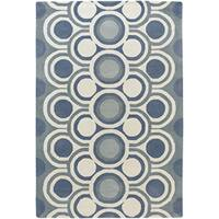 Artist's Loom Hand-tufted Contemporary Geometric Wool Rug (7'9x10'6) - 8' x 11'