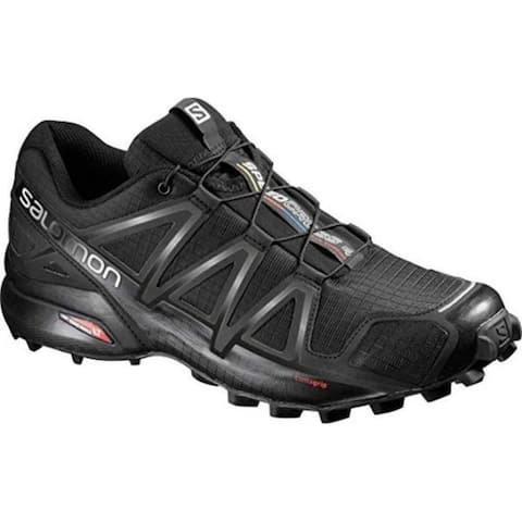 Salomon L38313000 Men's Speedcross 4 Trail Running Shoe, Black, 10.5 M US