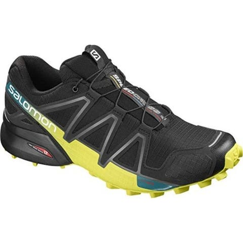 Salomon L39239800 Mens Speedcross 4 Trail Running Shoe Black/Everglade/Sulphur 10.5 M US