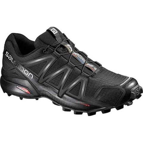 Salomon L38313000 Men's Speedcross 4 Trail Running Shoe, Black, 9.5 M US