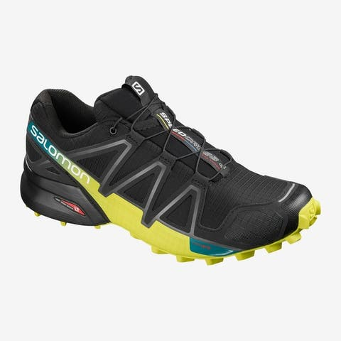 Salomon L39239800 Mens Speedcross 4 Trail Running Shoe Black/Everglade/Sulphur 9 M US