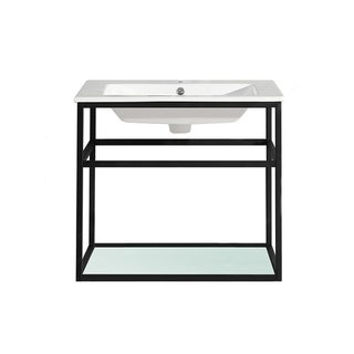 "Swiss Madison SM-BV552 Pierre 24"" Single, Metal Frame, Open Shelf, Bathroom Vanity"