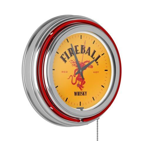 Fireball Neon Wall Clock