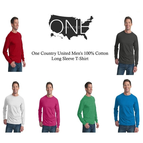 One Country United Mens HD Cotton Long Sleeve Tee