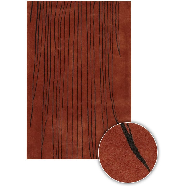 Hand-Tufted Mandara Transitional Wool Rug (5' x 8')