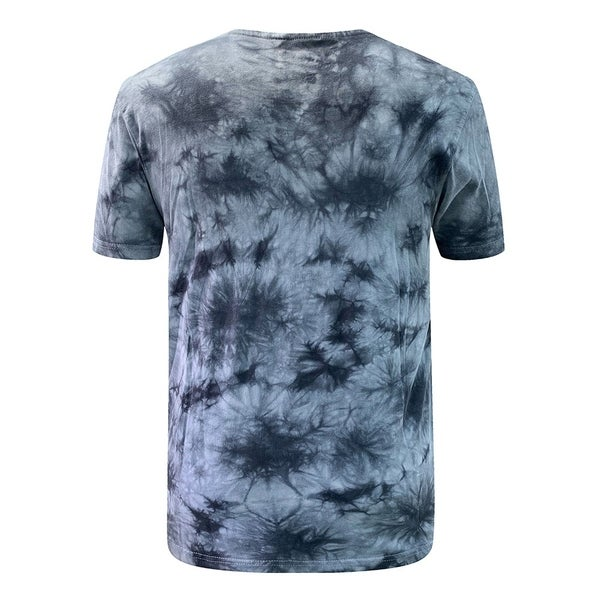 Villians of Virtue Tie-Dye Tee for Men Athletic Cotton T-Shirt Short Sleeve Large Grey