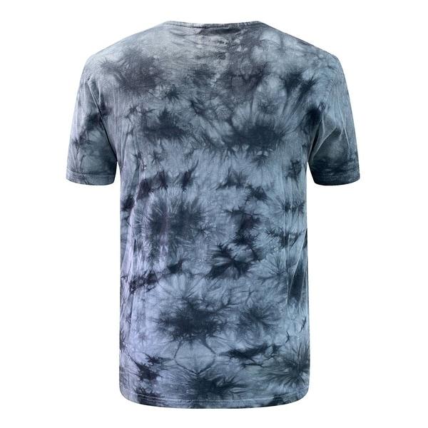 Villians of Virtue Tie-Dye Tee for Men Athletic Cotton T-Shirt Short Sleeve Small Grey