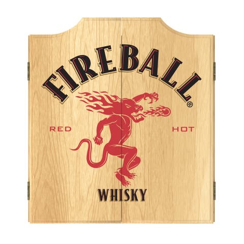 Fireball Dart Board Cabinet Set