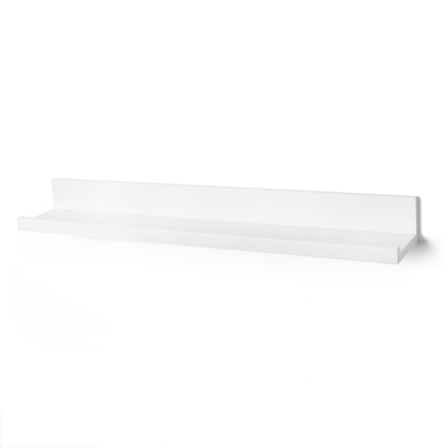 Americanflat Set of 3-14 Inch Floating Wall Shelves White