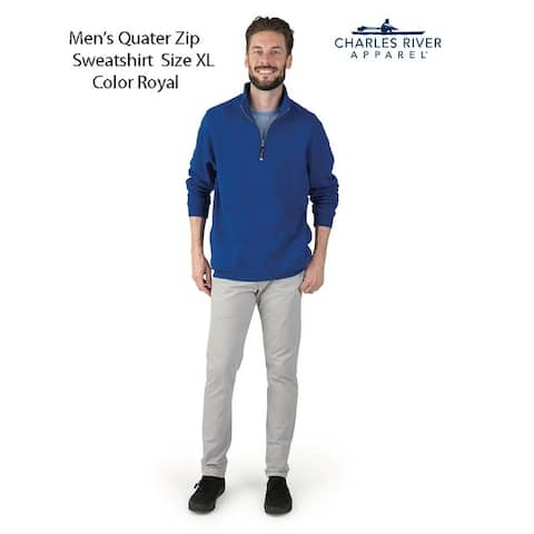 Mens's Quarter Zip Sweatshirt Size X-Large Royal