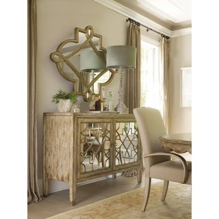 Surf and Visage 2-door Mirrored Console Cabinet