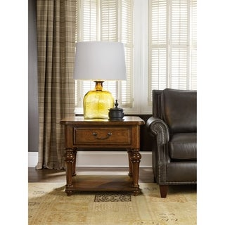 Warm Chestnut 1-drawer Lamp Table