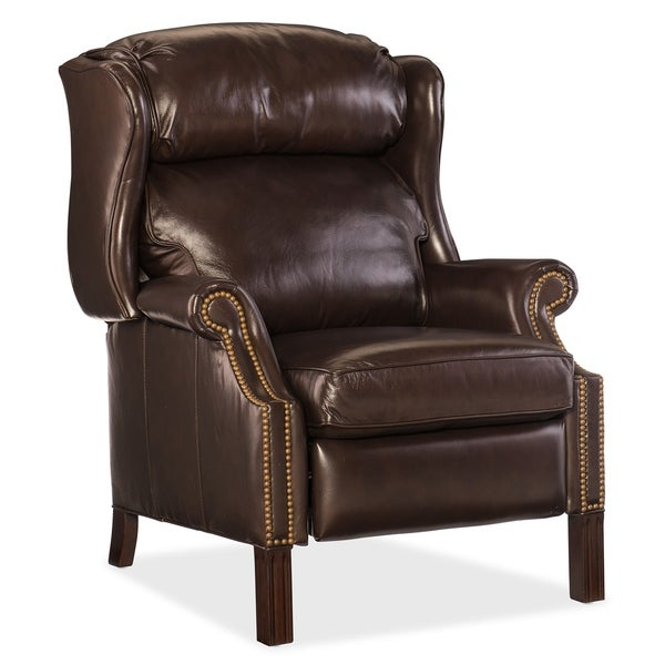 Brown Sicilian Cipriani Leather Recliner Chair