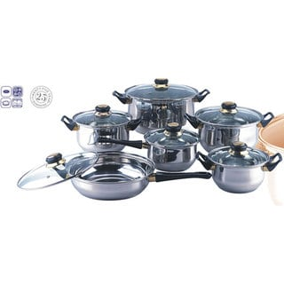 Link to Blackstar 12-piece Stainless Steel Cookware Set Similar Items in Kitchen Storage