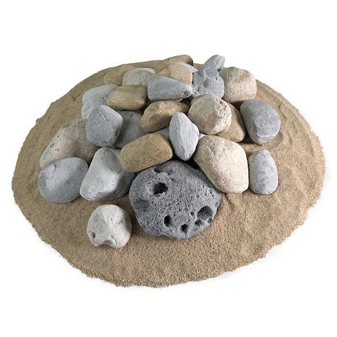 Ceramic Fire Pit Rock