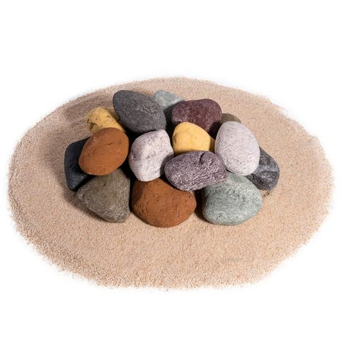 Ceramic Fire Pit Rock Fireproof Ceramic Decorative Stones for Indoor & Outdoor Fire Pits & Fireplaces Fire Pit Accessory