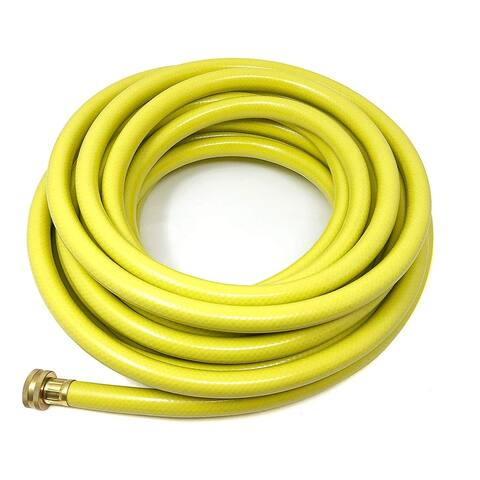 Garden Hose, 5/8 in. x 50 ft., Heavy Duty & Durable For Home, Garden And Car Purposes - Lightweight With Solid Brass Couplings