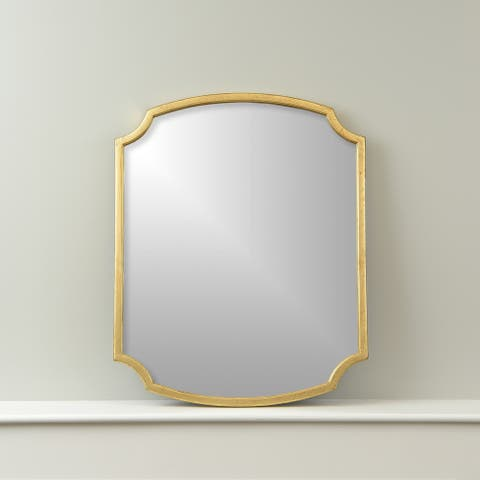 Gracewood Hollow Bedford Rectangular Wall Mirror with Scalloped Edges