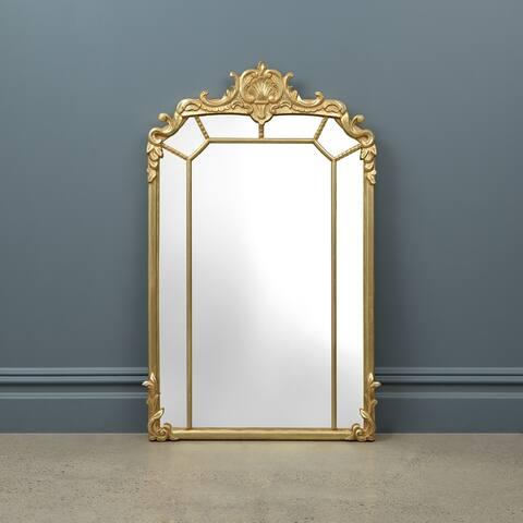 Gracewood Hollow Hanakim Rectangular Wall Mirror with Ornate Goldtone Frame - 24W X 40H
