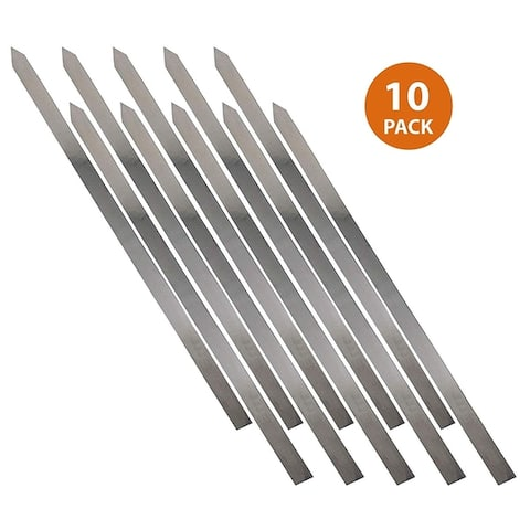 Stainless Steel BBQ Skewers for Shish Kebab - 27 Inch Long 1 Inch Wide All Metal Skewers (4)