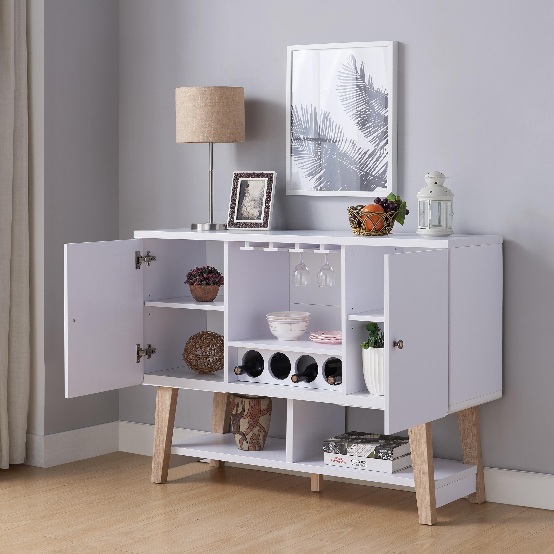 Furniture Of America Banti Modern 4 Bottle Buffet Server