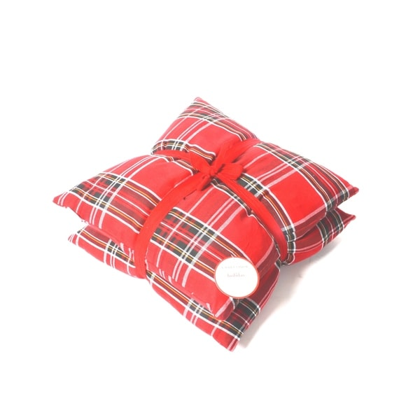 Lauren Taylor- Holiday Classic Red Plaid Cushions