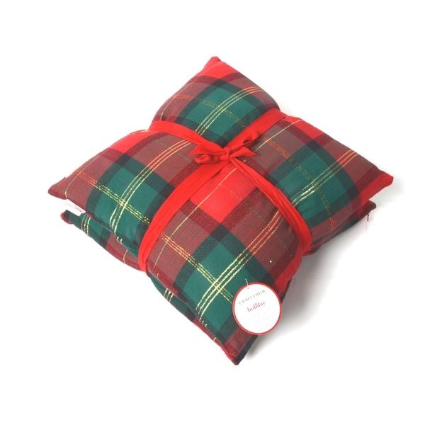 Lauren Taylor- Holiday Gold Lurex Plaid Cushions