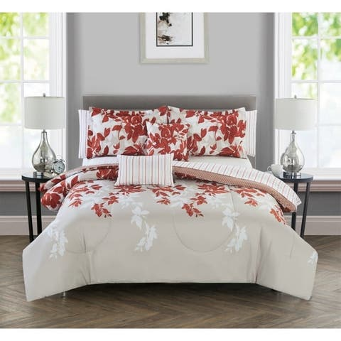 Hamilton Hall Leaf 9 Piece Comforter Set