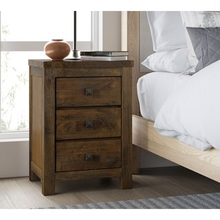 Finch Stratford Rustic Brown Nightstand