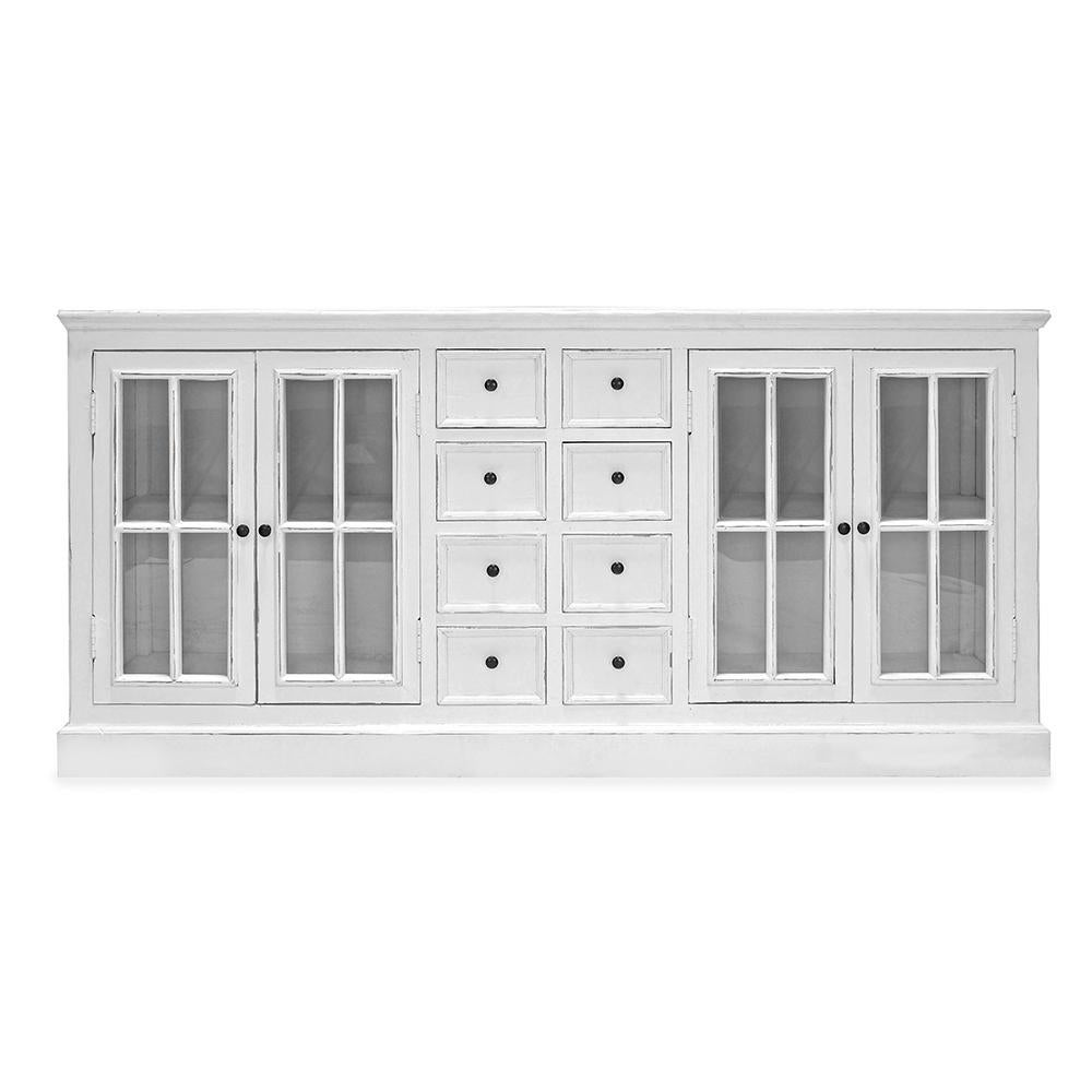 Nantucket Reclaimed Pine White Storage Cabinet