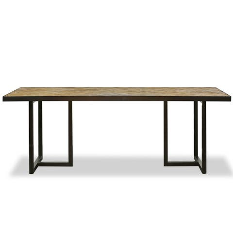 Dallas Reclaimed Wood and Iron Dining Table