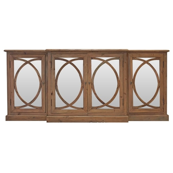 Mirror Curved Wood Buffet