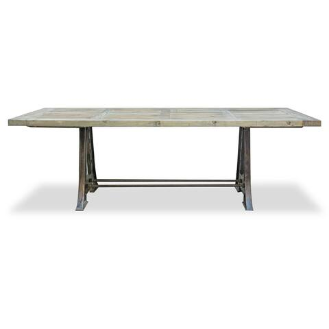 Alphaville Reclaimed Wood and Steel Base Dining Table
