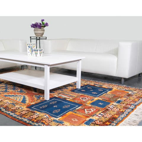 Handmade One-of-a-Kind Kilim Area Rug (Morocco) - 10'1 x 6'3