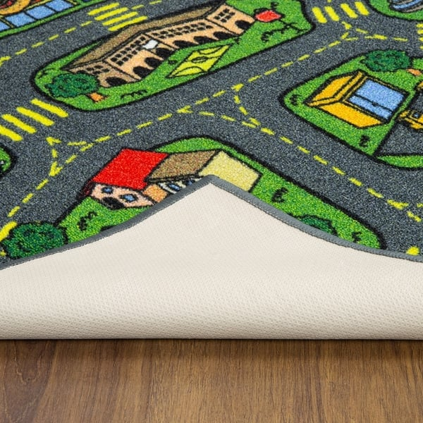 Jungtier Retro City Traffic Car Road Map Educational Learning Game Area Rug Carpet For Kids And Children Room 2 7 X 5 0 Overstock 30437691