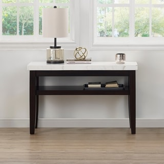 Fairfax White Marble Console Table by Greyson Living