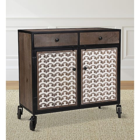 Grover Accent Cabinet with Casters by Greyson Living