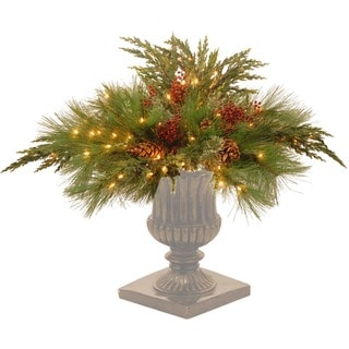 30-inch White Pine Clear Lights Urn Filler In Green (As Is Item)