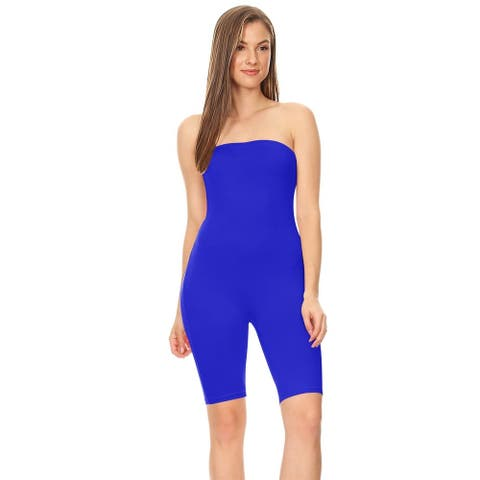 Women's Tube Biker Short Romper Bodysuits