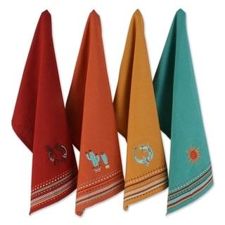 "DII Hacienda Stripe Kitchen Textiles, 18x28"", Southwest, 4 Pieces - Dishtowel Set"