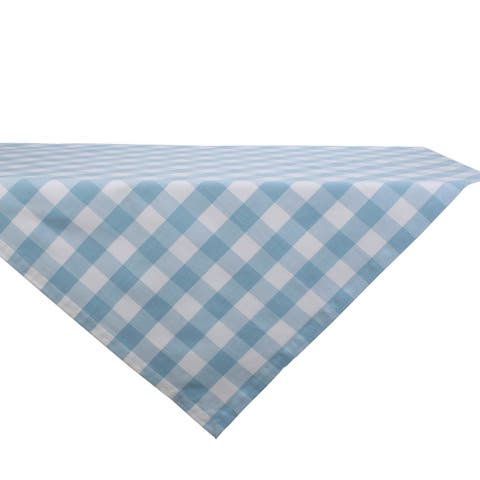 """DII Buffalo Check Tabletoppers, 40x40"""", White & Light Blue, 1 Piece"""