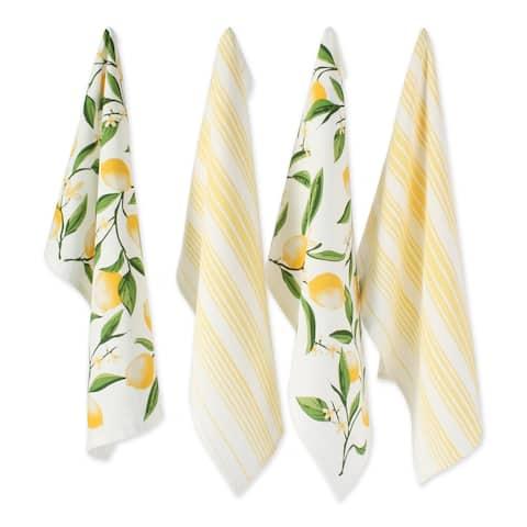 """DII Lemon Bliss Kitchen Textiles, 18x28"""", Lemon Bliss, 4 Pieces"""