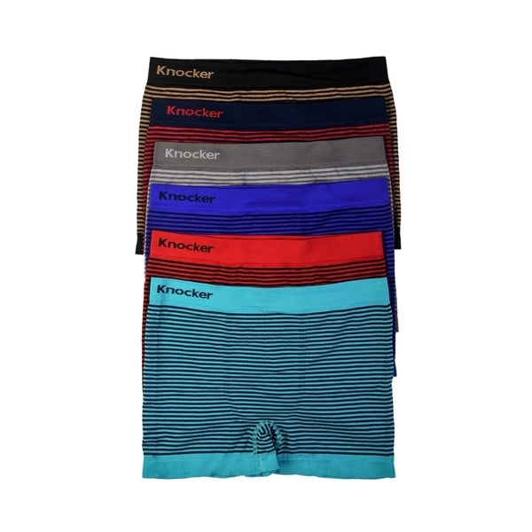 Mens 6-PACK Seamless Boxer Briefs