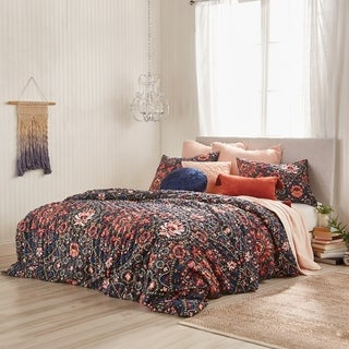 The Curated Nomad Losi Floral Microsculpt 3-piece Comforter Set