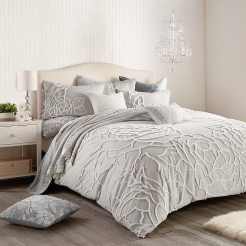 Porch & Den Scoffins Floral 3-piece Cotton Comforter Set