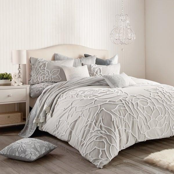 Porch & Den Scoffins Floral 3-piece Cotton Comforter Set. Opens flyout.